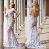 See Through Cheap Bridal Dress With Lace Formal Vintage Blin...