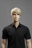 Wholesale kanekalon New Fashion Short blonde men s wig
