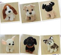 Свободный материал собаки Отзывы-EMS бесплатно, партнер плюша собаки игрушки куклы Фаршированные Благородство собаку милые собаки любимчика Clildren 'для ребенка Супер подарок для детей Прекрасные Llarge Размер 19см