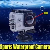Wholesale DHL M Waterproof Camera Full HD DVR Sport DV SJ4000 P Helmet Sports Camera inch MP Mini DV CAR DVR Wide Angle Carcorder