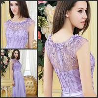 Cheap Reference Images evening dresses Best Crew Chiffon evening dress  2014