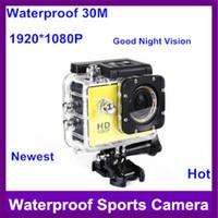 Wholesale 1080P HD MP Extreme Sports Action Camera M Waterproof SJ4000 Sports digital Camera Camcorder inch Mini DV CAR DVR Wide Angle