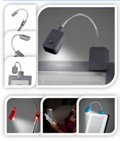 al por mayor reader book-Booklight Led Ebook Mini luz brillante flexible con clip del lector de libros de lectura lámpara de escritorio de la célula del botón Clip Nook Kindle 923 ONLUNO