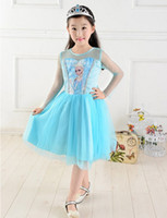 Girl's Summer Dress Frozen Dresses Anna Elsa Princess Dress ...
