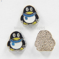 Wholesale 2014 Cute Penguin QQ Floating Charms for Floating Locket KC