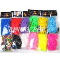 Wholesale Bingo Pop Direct Manufacturer Good Quality DIY Rubber Loom Bands Refill Colors Rubber Bands S Clips10sets Hook
