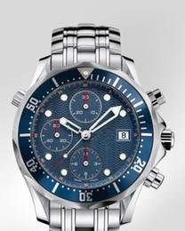 Wholesale Men s top Brand Quartz chronograph watches steel case band wrist watch OM02