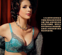 Wholesale N8822 triumph Womens Bra Set Luxurious Bra Set Elegant style Satin Cup Lace edge Mix order B B B B