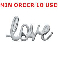 Cheap Charms SCRIPTED LOVE charms Best for locket mixed love glass