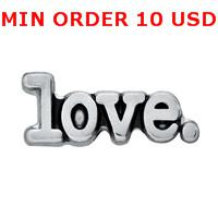 Cheap Charms SILVER LOVE SERIF charms Best for locket mixed serif glass