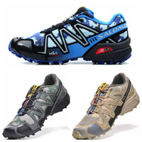 Wholesale Hiking shoes Salomon Speedcross Camouflage colors Mens Running Shoes More Lightweight Anti deformation Sports shoes Size