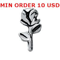 Cheap Charms SILVER ROSE charms Best for locket mixed rose glass