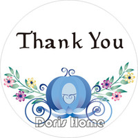 Wholesale New Paper Round Custom quot Thank You quot Sticker for Wedding Birthday cm T9