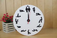 Wholesale The Clock Of Sex Sexy Couples Lovers Bedroom Sentiment Art Wall Clocks Mute Quiet