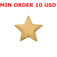 Charms for locket mixed GOLD STAR Glass Floating charms for memory living locket wholesale