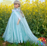 TuTu Summer A-Line 1406z summer 2014 tutu kids girl party Children princess costume baby girls elsa anna dress blue short sleeve new frozen dress 38482583045