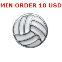 Wholesale VOLLEYBALL Glass Floating charms for memory living locket