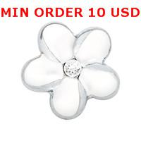 Cheap Charms PLUMERIA FLOWER charms Best for locket mixed flower glass