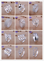 Wholesale Good Price Multi Styles Women amp Men Fashion Sterling Silver Rings Mixed Order