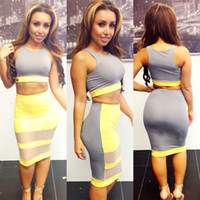 Casual Dresses Strapless Mini Women Clothes 2014 Summer Cocktail Bandage Celebrity Dress Vestidos Sleeveless Colors Yellow Sexy Bodycon Club Dresses