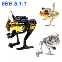 Fishing Spinning Reel   New 2014 Pesca 6BB Ball Bearings Left Right Fishing Reel Interchangeable Collapsible Handle Fishing Spinning Reel SG3000 5.1:1 H9846