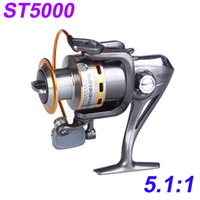 bb bears - Outdoor BB Ball Bearing Left Right Interchangeable Collapsible Handle Fishing Spinning Reels High Speed ST5000 H10080