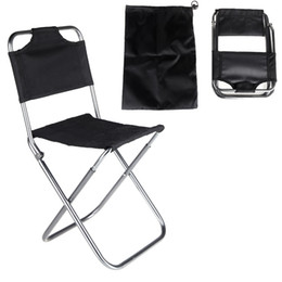 Wholesale High Quality Portable Folding Outdoor Fishing Camping Chair Aluminum Oxford Cloth Chair with Backrest Carry Bag Black H10263
