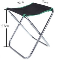 folding camping chair - Outdoor Portable Aluminum alloy PVC Oxford cloth Folding Chair Camping Fishing chair with Carry Bag H10203