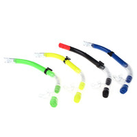 scuba diving equipment - New Standard Scuba Diving Snorkel Breathing Tube Swimming Diving Sea Snorkeling Equipment Semi Dry Black Yellow Green Blue H10786