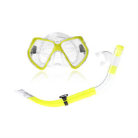 Wholesale 4 Colors Scuba Silicone Diving Mask Goggles Swimming Diving Snorkeling Equipment mm Toughened Tempered Glass Snorkel Set H10787 H10309