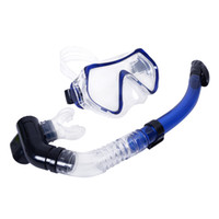 Wholesale Scuba mm Toughened Tempered Glass Diving Mask Goggles Swimming Diving Snorkeling Equipment Full Dry Snorkel Set Colors H10103 H10786