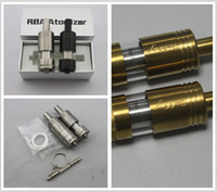 Wholesale RBA Rebuildable Stailess Steel Atomizer Fogger V4 Atomizer with Dual Coil Wire Drawing Airflow Control three colors Stainless Black gold