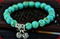 lots of turquoise jewelry - pieces Original vintage jewelry Tibet Yunnan Ethnic Tibetan jewelry Tibetan silver turquoise bracelet manufacturers of