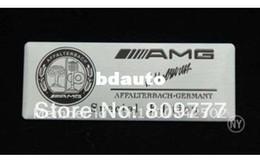 Wholesale Aluminum fit AMG Special Edition Badge Emblem Sticker Black