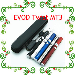 Starter kit torsion ego zipper en Ligne-2015 Hot! Evod Twist eGo-C Twist Cigarette MT3 Starter Kit électronique avec étui Mini Zipper 650mAh 900mAh 1100mah 3.2-4.8V