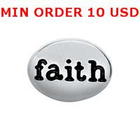 Charms for locket mixed SILVER FAITH Glass Floating charms for memory living locket wholesale
