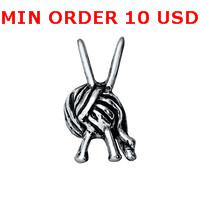 Charms for locket mixed SILVER KNITTING Glass Floating charms for memory living locket wholesale