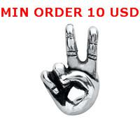 Charms for locket mixed SILVER PEACE SIGN HAND Glass Floating charms for memory living locket wholesale