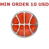 Charms for locket mixed BASKETBALL Glass Floating charms for memory living locket wholesale