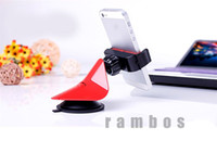 Wholesale Universal Cell Phone Car Holder with Degree Rotating Mount Cradle for iPhone for HTC for Sony for Nokia
