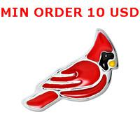 Charms for locket mixed CARDINAL Glass Floating charms for memory living locket wholesale