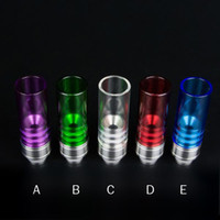 bearings housings - Electronic Cigarette Muffler Wide Bore Drip Tip Glass Material for CE4 EVOD DCT E Cig Atomizers E House Staniless Steel eGo Mouthpiece