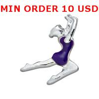 Cheap Charms SILVER GYMNASTICS charms Best for locket mixed gymnastics glass