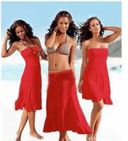 Sexy Women Swimwear Beach Dress Verão Cover Up Limpe Grêmio Strapless Vestidos Beachwear Skirt Biquíni fatos para brincar uma peça maiô pijama