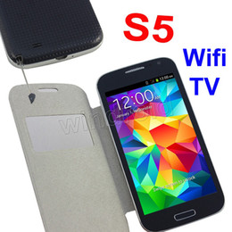 Wholesale 1 S5 i9600 G900 G9006 G9008 cell Phone WIFI TV inch Resistive Bluetooth Dual SIM Camera mobile GSM Quad Band Unlocked