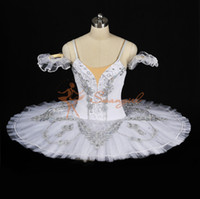 Embroidered ballet snow - Classical Ballet Tutu White Nutcracker Adult Women Kids Girls Size Ballet Pancake For Sale Snow QueenBT8931