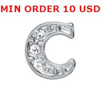 Cheap Charms C INITIAL charms Best for locket mixed initial glass