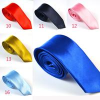 Wholesale 2 Inch Mens Skinny Necktie Neck Ties Royal Blue Solid Color Slim Narrow Wedding Ties Men s Fashion Accessories