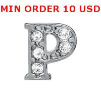 Charms initial charms - Hot P INITIAL Floating charms