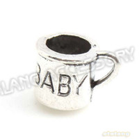 Trendy Fashion Charms Latest Design 90pcs lot New Baby Cup Alloy Charms Antique Silver Plated Pendant Fit Jewelry Making 12x9x9mm 143543